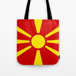 Flag of Macedonia - authentic (High Quality image) Tote Bag