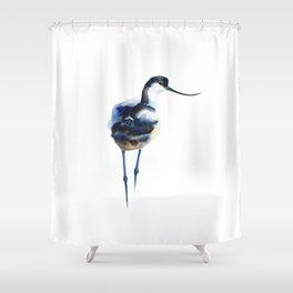 Blue Wash Watercolor Pattern - Avocet Shower Curtain