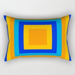 Square orange Rectangular Pillow