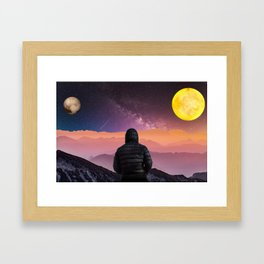 Pink Horizon by GEN Z Framed Art Print