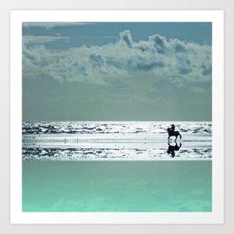 Riding Silver Sands Art Print
