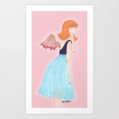 young succubus Art Print