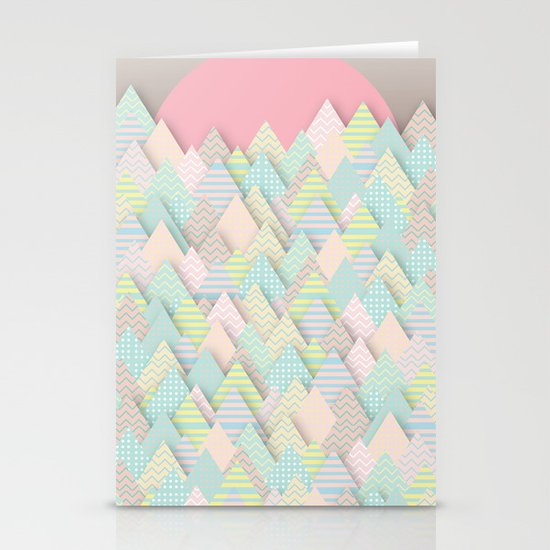 Forest Pastel Stationery Cards