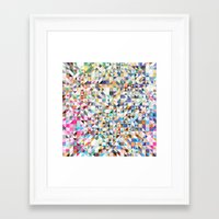 confetti Framed Art Prints featuring Confetti by FRAXTURED