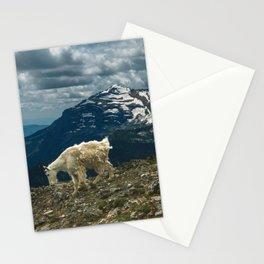 Glacier Mountain Goats Stationery Cards