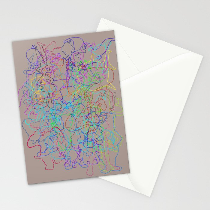 50 Animated Characters  Stationery Cards