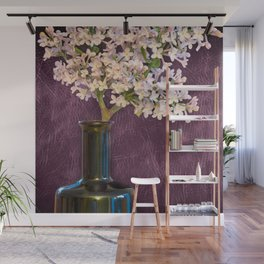 Lilac and Bottle Wall Mural