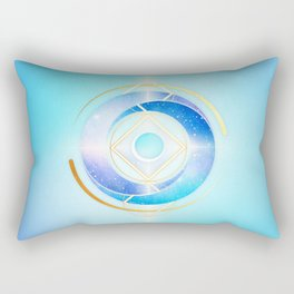 Floating Geometry :: Winter Swirl Rectangular Pillow