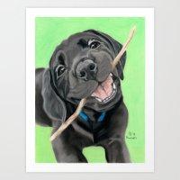 The Happy Pup - Pastel Portrait Art Print