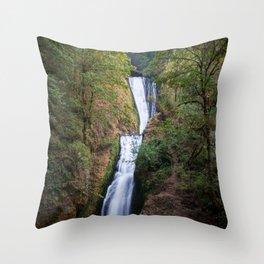 Bridal Veil Falls - Columbia River Gorge, Oregon Throw Pillow