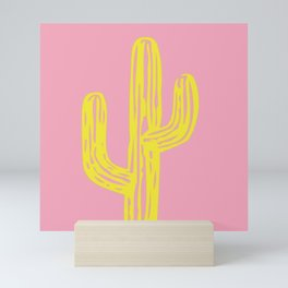 Golden Cactus Mini Art Print