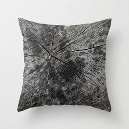 Aging Rings Throw Pillow