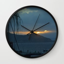 Sunset Naxos 2 Wall Clock