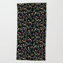 fairytale meadow pattern Beach Towel