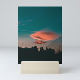 Sunset Lonely Cloud Mini Art Print