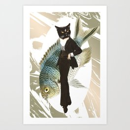 Cat Fancier Tux Art Print