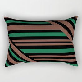 Geometric pattern Striped triangles 3 Rectangular Pillow
