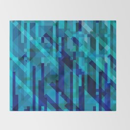 abstract composition in blues Throw Blanket