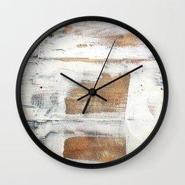 Wood planks shipboard repairing Wall Clock