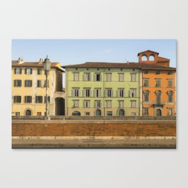 Pisa in color Tuscany Italy Canvas Print