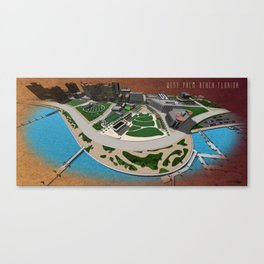 West Palm Beach Waterfront & City Commons Canvas Print