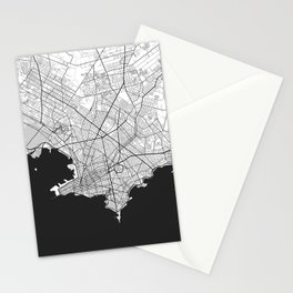 Montevideo Map Gray Stationery Cards