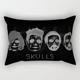 Bastille Skulls Rectangular Pillow