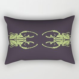 Envious Beetle - Geometric Insect Design Rectangular Pillow