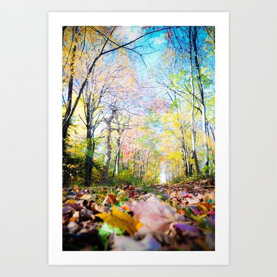 Amongst the Leaves Art Print