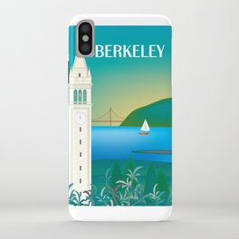 Berkeley, California - Skyline Illustration by Loose Petals iPhone Case