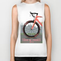 tour de france Biker Tanks featuring Tour De France Bike by Wyatt Design