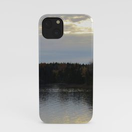 Downeast Autumn Reflections of Scattered Illuminations iPhone Case
