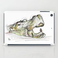 hippo iPad Cases featuring Hippo by Ursula Rodgers