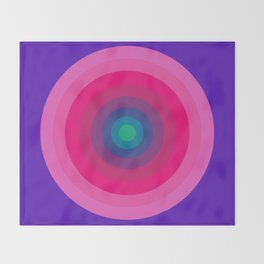 Panton Retro Target Throw Blanket