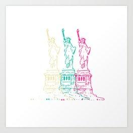 Triple Statue of Liberty Art Print