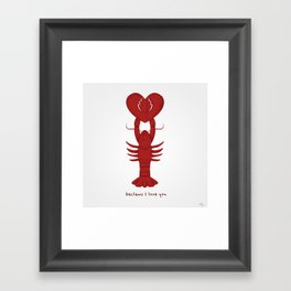 Loving Lobster Framed Art Print