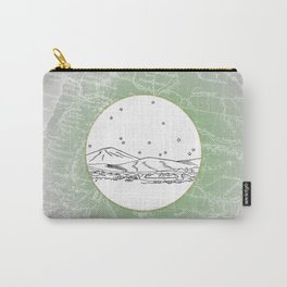 Woodland, Washington City Skyline Illustration Drawing Carry-All Pouch