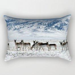 Pronghorns in the Basin Rectangular Pillow