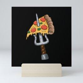 Ninja Pizza Mini Art Print