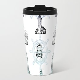 Lighthouse Wheel Travel Mug