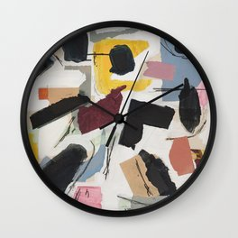 Large Collage With Paint 1 Wall Clock