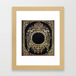 Ornate Gold Frame Book Cover Framed Art Print