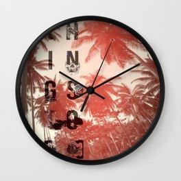 Busy Palms Wall Clock