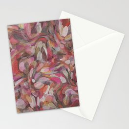 Pink Bubble Painting Stationery Cards