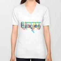 religion V-neck T-shirts featuring religion by kamizeta