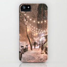 Snow - New York City - East Village iPhone Case