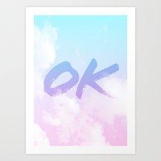 Summer Clouds OK Art Print