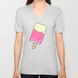 Cute pink candy and ice-cream Unisex V-Neck