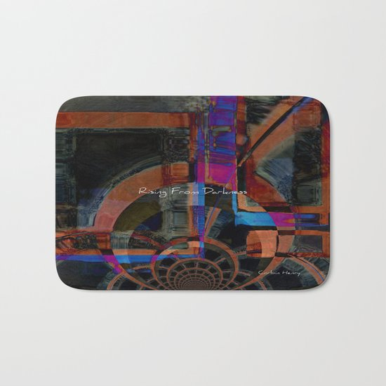 Rising From Darkness Abstract - Happiness - Inspiration Bath Mat