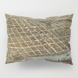 Map Of Knoxville 1871 Pillow Sham